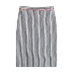 J. Crew Pencil Skirt in Neon Piped Seersucker Sz 0